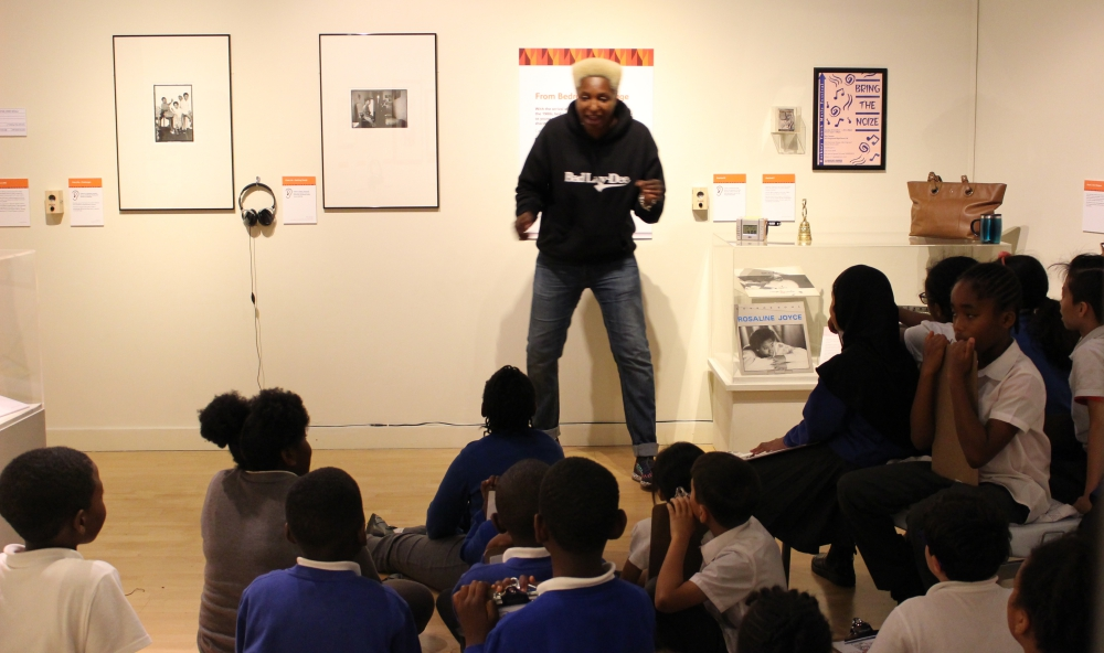 Bad Lay-Dee teaching school children at Hackney Museum